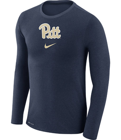 Men's Nike Pitt Panthers College Long-Sleeve Marled T-Shirt