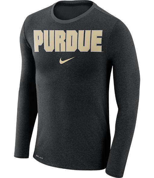 Men's Nike Purdue Boilermakers College Long-Sleeve Marled T-Shirt