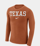 Men's Nike Texas Longhorns College Long-Sleeve Marled T-Shirt