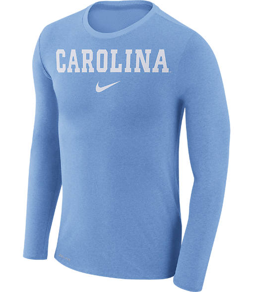 Men's Nike UNC Tar Heels College Long-Sleeve Marled T-Shirt