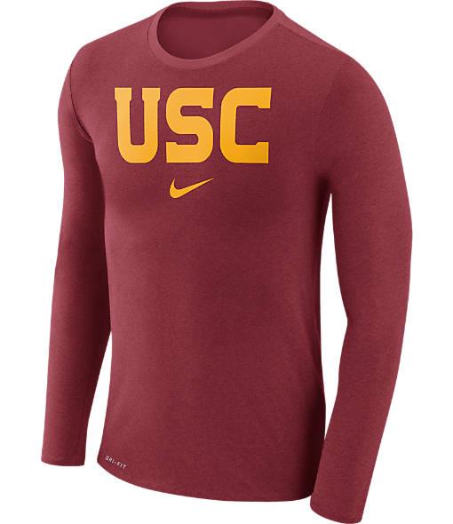 Men's Nike USC Trojans College Long-Sleeve Marled T-Shirt