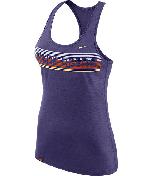 Women's Nike Clemson Tigers College Dry Racerback Tank