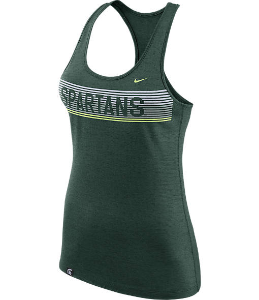 Women's Nike Michigan State Spartans College Dry Racerback Tank
