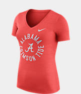 Women's Nike Alabama Crimson Tide College Dri-FIT Touch V-Neck T-Shirt