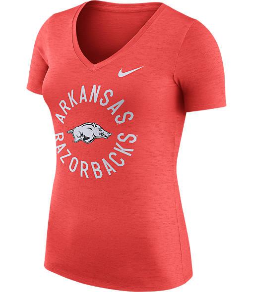 Women's Nike Arkansas Razorbacks College Dri-FIT Touch V-Neck T-Shirt