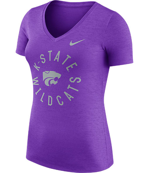 Women's Nike Kansas State Wildcats College Dri-FIT Touch V-Neck T-Shirt
