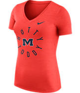 Women's Nike Mississippi State Bulldogs College Dri-FIT Touch V-Neck T-Shirt