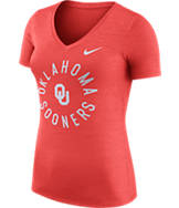 Women's Nike Oklahoma Sooners College Dri-FIT Touch V-Neck T-Shirt