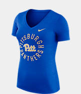 Women's Nike Pitt Panthers College Dri-FIT Touch V-Neck T-Shirt