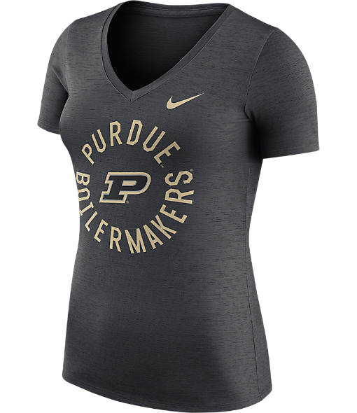 Women's Nike Purdue Boilermakers College Dri-FIT Touch V-Neck T-Shirt
