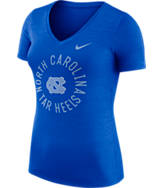 Women's Nike North Carolina Tar Heels College Dri-FIT Touch V-Neck T-Shirt