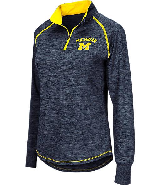 Women's Stadium Michigan Wolverines College Bikram Quarter-Zip Sweatshirt