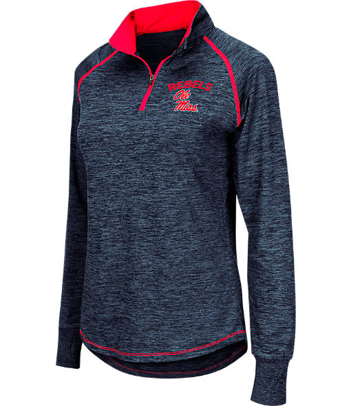 Women's Stadium Ole Miss Rebels College Bikram Quarter-Zip Pullover
