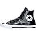 Left view of Girls' Preschool Converse Chuck Taylor All Star Hi Metallic Leather Casual Shoes in 001