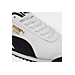 Front view of Men's Puma Roma Basic Casual Shoes in White/Black