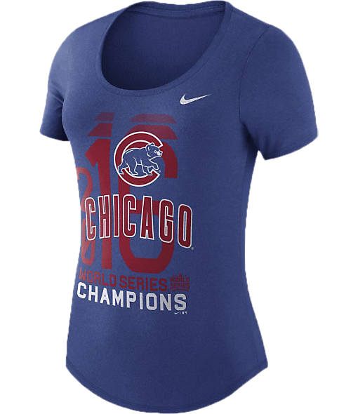 Women's Nike Chicago Cubs MLB World Series Championship Scoop Neck T-Shirt