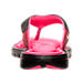 Back view of Women's Nike Comfort Thong Sandals in Black/White/Vivid Pink