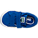 Top view of Boys' Toddler Puma Suede Casual Shoes in Snorkel Blue