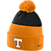 Front view of Nike Tennessee Volunteers College New Day Beanie in Orange