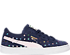 Girls' Grade School Puma Suede Dotfetti Casual Shoes