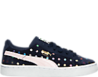 Girls' Preschool Puma Suede Dotfetti Casual Shoes