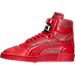 Left view of Women's Puma Sky II Hi Future Minimal Casual Shoes in Barbados Cherry