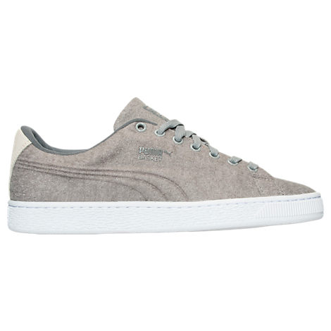 Men's Puma Basket Classic Embossed Wool Casual Shoes