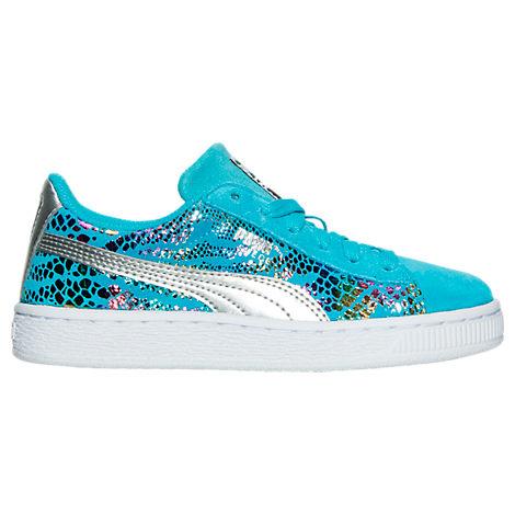 Girls' Preschool Puma Suede Sportlux Jr Casual Shoes