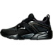 Left view of Men's Puma Blaze Of Glory Woven Casual Shoes in Black/Black