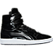 Right view of Men's Puma Sky II Hi Patent Emboss Casual Shoes in Puma Black