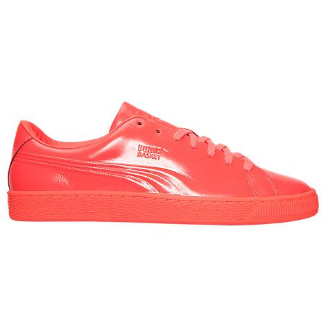 Men's Puma Basket Classic Patent Emboss Casual Shoes