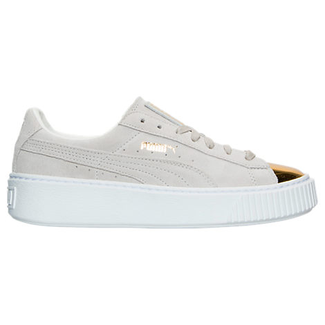 Women's Puma Suede Platform Gold Casual Shoes