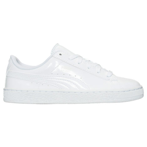 Girls' Grade School Puma Basket Patent Casual Shoes