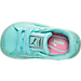 Top view of Girls' Toddler Puma Basket Patent Iced Glitter Casual Shoes in Aruba Blue
