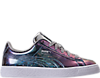 Girls' Preschool Puma Basket Classic Hologram Casual Shoes
