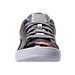 Front view of Girls' Preschool Puma Basket Classic Hologram Casual Shoes in Silver Hologram