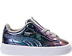 Girls' Toddler Puma Basket Classic Hologram Casual Shoes