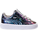 Right view of Girls' Toddler Puma Basket Classic Hologram Casual Shoes in Silver Hologram