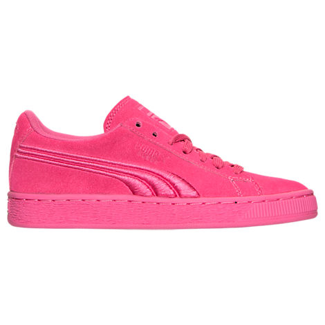 Girls' Grade School Puma Suede Classic Badge Casual Shoes