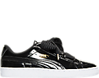 Women's Puma Basket Heart Patent Casual Shoes
