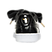 Back view of Women's Puma Basket Heart Patent Casual Shoes in Black