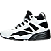 Left view of Men's Puma Blaze of Glory Sock Boot Quilted Casual Shoes in White/Black