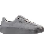 Women's Puma Suede Platform Reset Casual Shoes