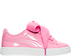 Girls' Preschool Puma Basket Heart Casual Shoes