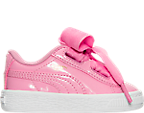 Girls' Toddler Puma Basket Heart Casual Shoes