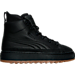 Right view of Men's Puma The Ren Boots in Black/Black/Gum