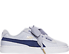 Women's Puma Basket Heart Denim Casual Shoes