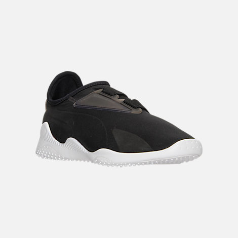 Three Quarter view of Women's Puma Mostro Casual Shoes in Puma Black/Puma Black