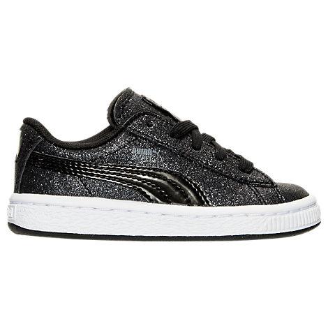 Girls' Toddler Puma Basket Holiday Glitz Casual Shoes