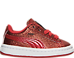 Girls' Toddler Puma Basket Holiday Glitz Casual Shoes